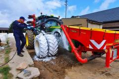 Mycie zestawu na ustanowienie rekordu w siewie kukurydzy